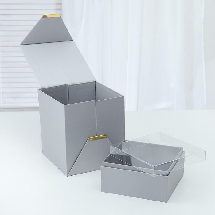 Коробка подарочная 21 х 21 х 24 см - фото 8877893