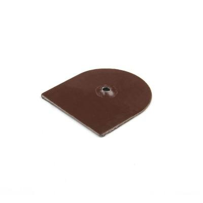 Подпяточник, с отверстием, металлический, коричневый