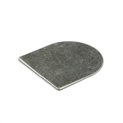 Подпяточник, без отверстия, металлический, цвет серебро