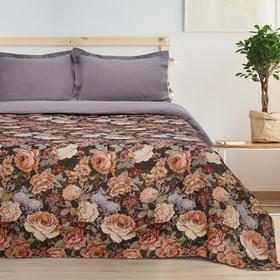 Покрывало гобеленовое Этель «Розы» 180×200 см, пл. 280 г/м², 30% хлопок, 70% п/э