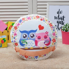Подушка декоративная Крошка Я 'Совы. Семейное счастье', d35 см, 100% п/э Ош