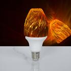 "Лампа хрустальная ""Пламя"", 12 LED, 2 режима, 3 Вт, акриловый верх, 220 В"