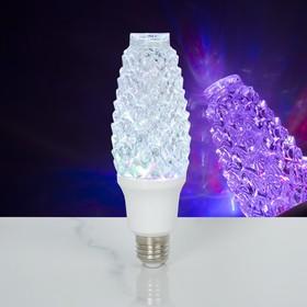"""Лампа хрустальная """"Шишка"""", 12 LED, 2 режима, 3 Вт, акриловый верх, 220 В"""