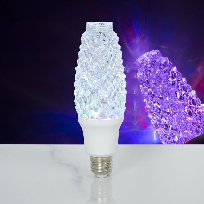 """Лампа хрустальная """"Шишка"""", 12 LED, 2 режима, 3 Вт, акриловый верх, 220V"""