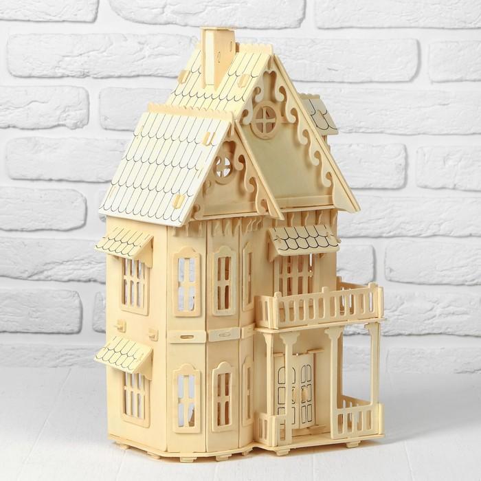 Кукольный дом «Дом мечты» этаж: 15 см, фанера: 3 мм