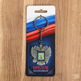 "Keychain in the shape of a coat of arms ""Arkhangelsk"" (coat of arms) 4.6 x 5 cm"