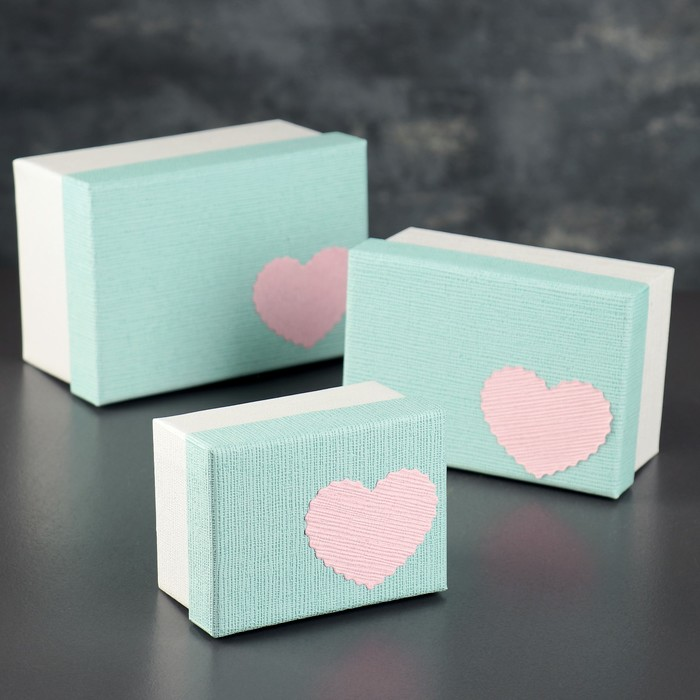 Набор коробок прямоугольная 3в1 , 15,5 х 11 х 8 - 11 х 8 х 6 см