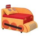 Детский диван «Кенгуру 3», левый угол, механизм выкатной, цвет красный/оранжевый