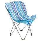 Кресло складное LUI 84х76х90 см, до 80 кг, в пакете, цвет синий/голубой
