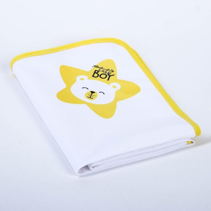 Пелёнка непромокаемая детская «Мишка Baby Bear», 50 × 70 см