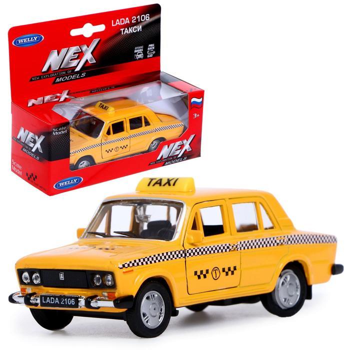 Модель машины Lada 2106 - Такси, масштаб 1:34-39