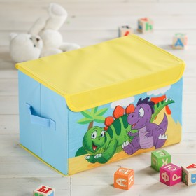 "Корзина для игрушек 37х24х24 см ""Динозавры"""