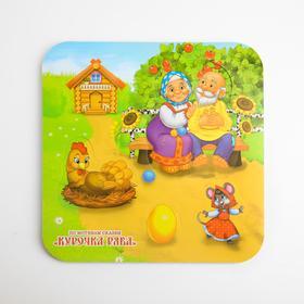 Игрушка рамка - вкладка для игры в ванной из EVA «Курочка Ряба»