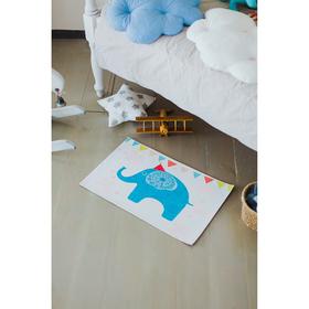 Коврик для дома «Слоник», 40×69 см