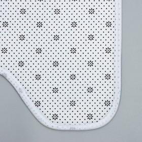 Набор ковриков для ванны и туалета «Совушки парочка», 2 шт: 40×50, 50×80 см