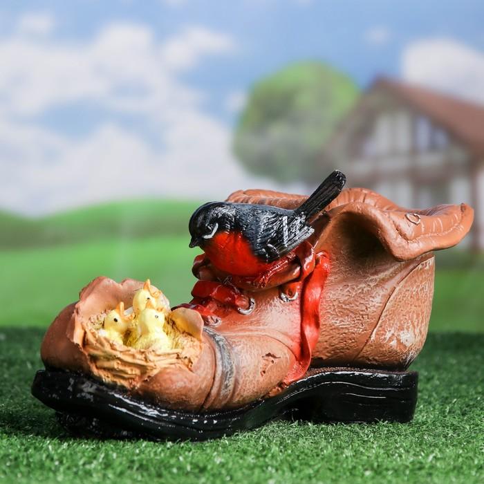 """Фигурное кашпо """"Ботинок с гнездом""""15,5х27см"""