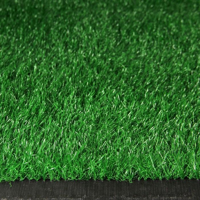 Газон искусственный, 0,04 × 2 × 10 м, светло-зелёный, «Субтропический»