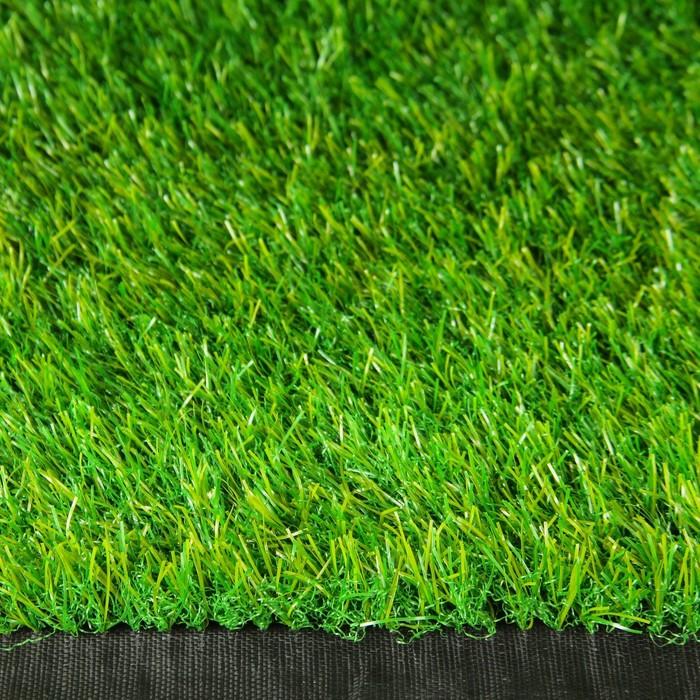 Газон искусственный, 0,04 × 2 × 10 м, тёмно-зелёный, «Субтропический»