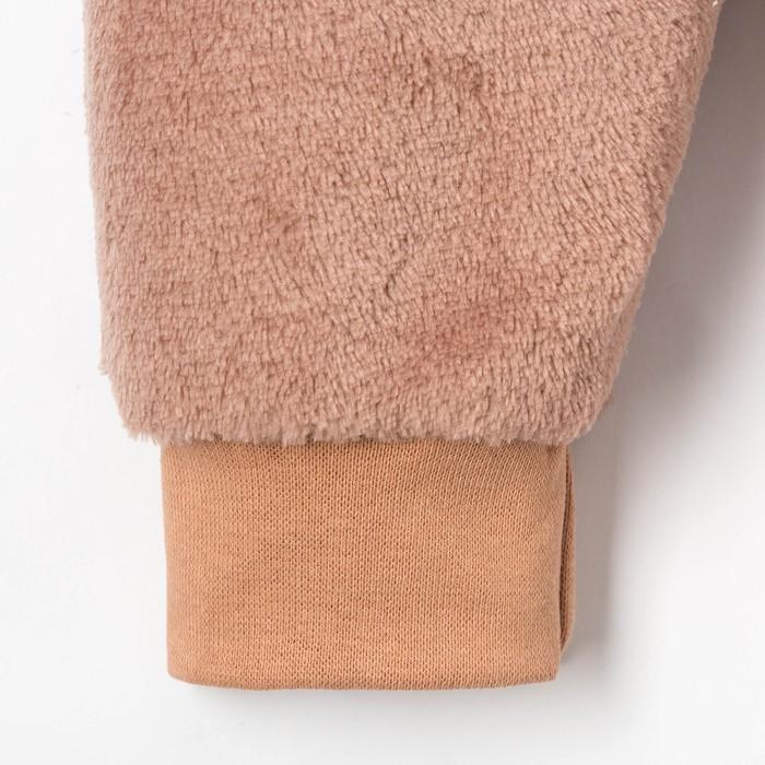Комбинезон Крошка Я Hug me, коричневый, р. 26, рост 74–80 см