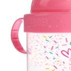 Детский поильник с твёрдым носиком «Самая сладкая», с ручками, 150 мл, от 5 мес., цвет розовый - фото 105490981