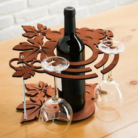 "{{photo.Alt || photo.Description || 'Подставка под вино и бокалы ""Виноград""'}}"