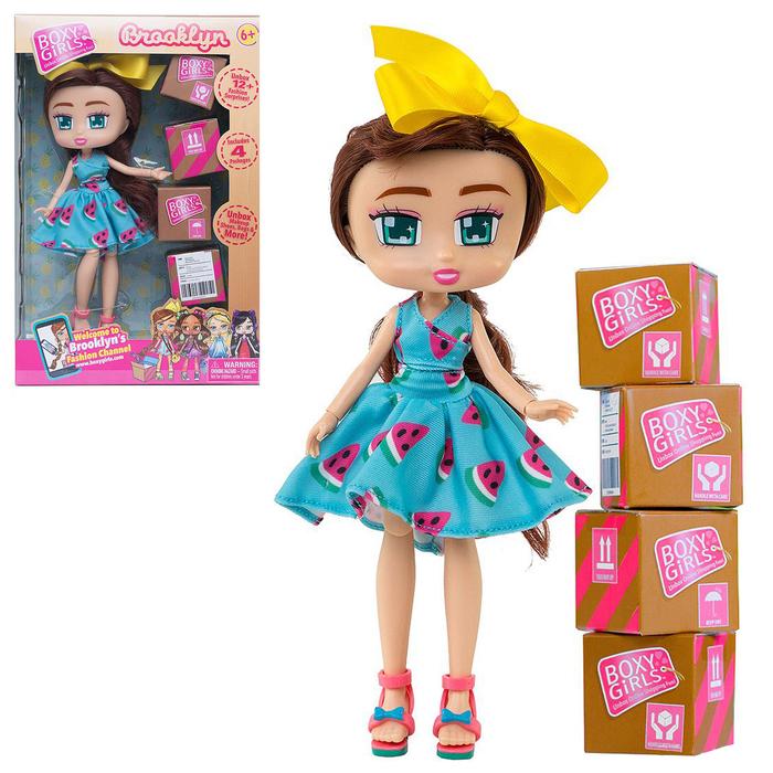 """Кукла """"Brooklyn"""", 20 см, с аксессуарами в 4-х коробочка Т15108"""