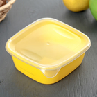Контейнер пищевой для СВЧ, квадратный 0,5 л, цвет МИКС