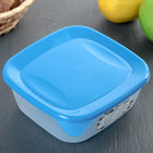 Контейнер квадратный  пищевой для СВЧ 0,8 л  цвет микс