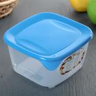 Контейнер квадратный пищевой для СВЧ 1,2 л прозрачный