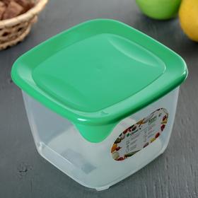 Контейнер пищевой для СВЧ, квадратный 1,6 л, цвет МИКС