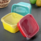 Набор контейнеров квадратных 3 шт: 0,8 л, 1,2 л, 1,6 л, цвет МИКС
