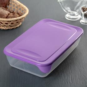 Контейнер пищевой для СВЧ, прямоугольный 1,9 л, цвет МИКС