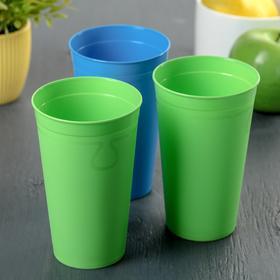 Набор стаканов 0,4 л, 3 шт