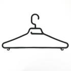 Набор вешалок для одежды, 3 шт, цвет черный