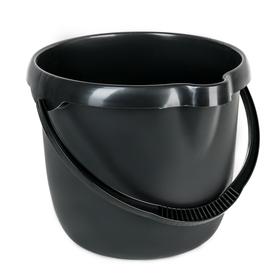 Ведро с мерной шкалой Clever's, 12 л, цвет чёрный