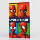 """Блокнот А6 32л на скрепке """"Super hero"""" Человек-паук"""