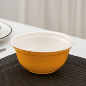 Миска одноразовая суповая, 500 мл, цвет жёлтый, 480 шт/уп.