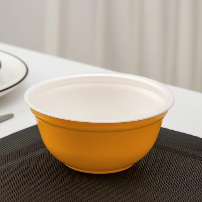 Миска суповая 500 мл, цвет жёлтый