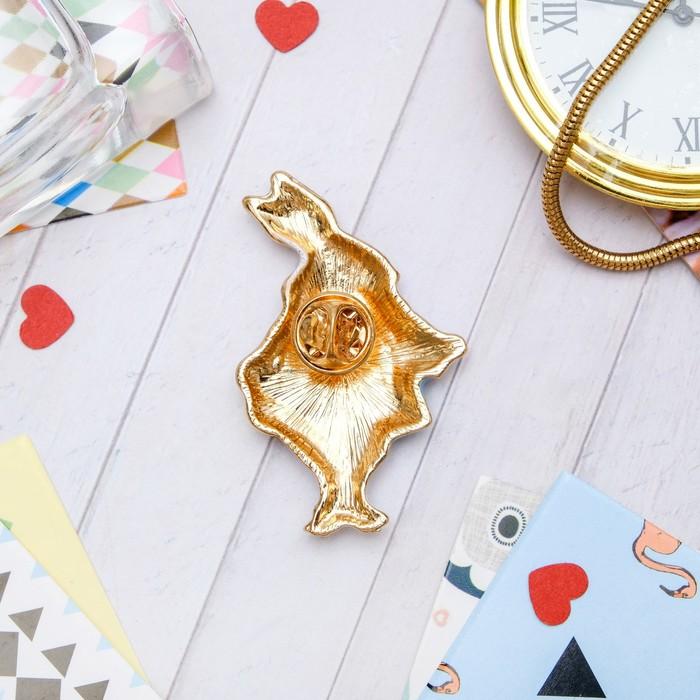 """Значок """"Кролик карточный"""", цветной в золоте - фото 448776786"""
