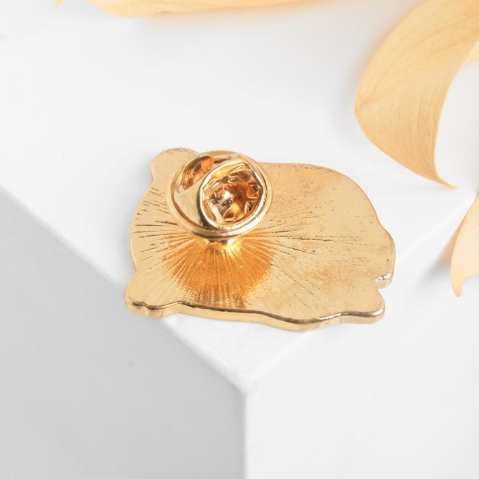 """Значок """"Совенок"""", цветной в золоте - фото 408648024"""