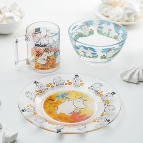 Набор детской посуды ОСЗ «Муми-тролли», 3 предмета