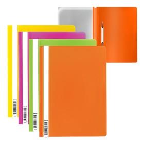 Папка-скоросшиватель А4 Erich Krause Economy Neon, микс, текстура 'апельсиновая корка' (комплект из 20 шт.)