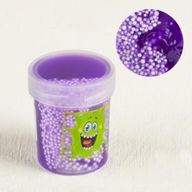 """Слайм """"Плюх"""" фиолетовый, контейнер с шариками, 40 г в Донецке"""