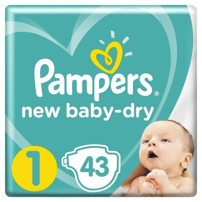 Подгузники Pampers New Born (2-5 кг), 43 шт