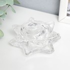 Glass candle holder 1 candle LOTOS transparent 4,5x8,3х8,3 cm