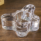 Glass candle holder 1 candle Butterfly transparent 3,5x9,7x7,5 cm