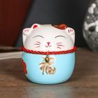 """Piggy Bank ceramic """"Maneki neko tumbler with the character for happiness and success"""" MIX 10х9х9 cm"""