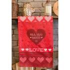 "Towel ""Ethel"" All you need is love 40х67см,100% C,twill 190гр/m2"