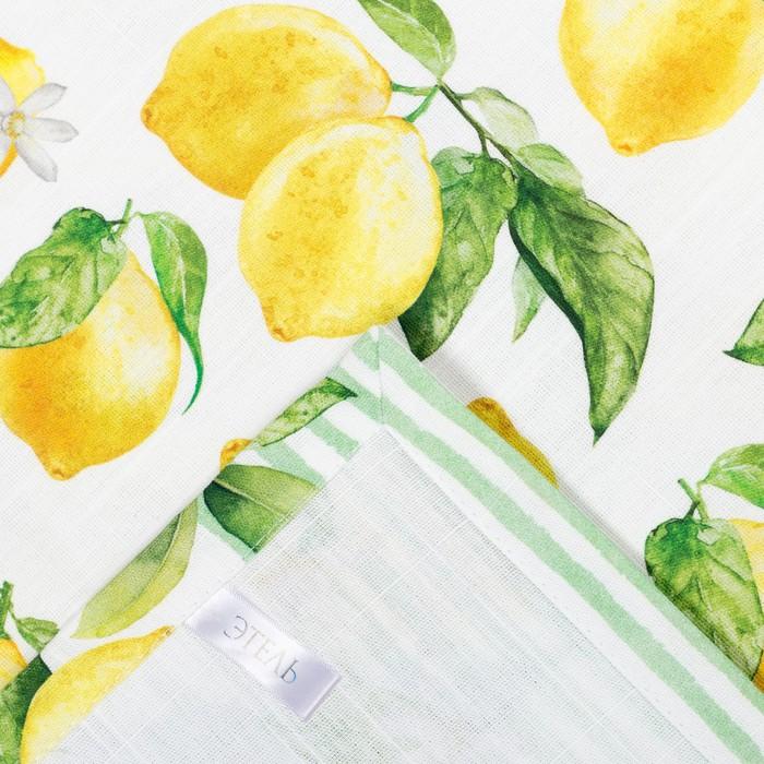 """Скатерть """"Этель"""" Лимоны 180х147 см, 100% хл, репс 190 гр/м2"""