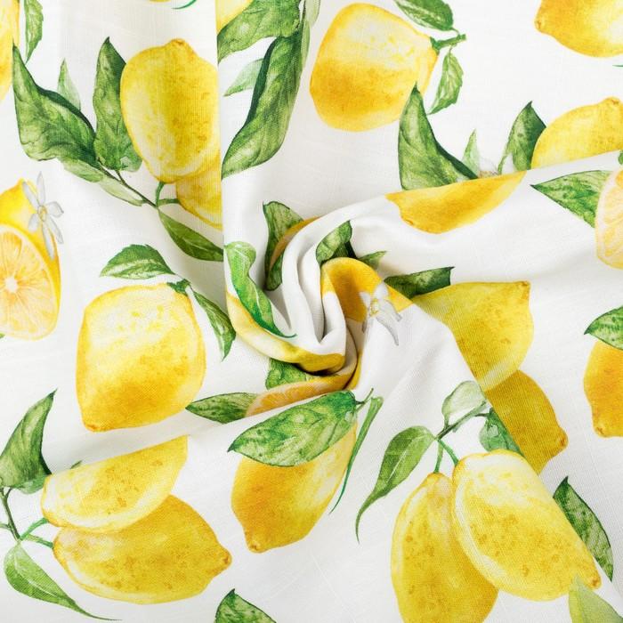 """Скатерть """"Этель"""" Лимоны 180х147 см, 100% хл, репс 190 гр/м2 - фото 443749882"""
